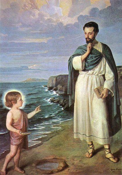 San Agustín y el Niño de la concha
